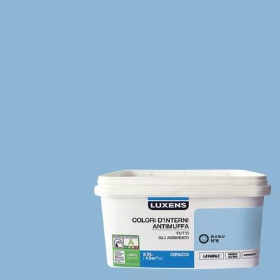 Idropittura lavabile Antimuffa Blu Blu 6 - 2,5 L Luxens