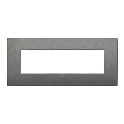 Placca 7 moduli Vimar Arké titanio matt