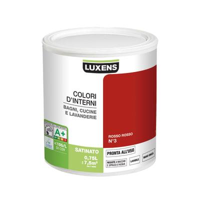 Smalto murale Rosso Rosso 3 0,75 L Luxens