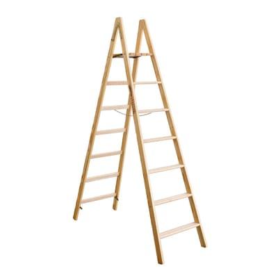 Scala doppia Legno Facal 7 gradini, per lavori fino a 3,22 m