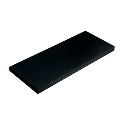 Mensola Spaceo nero L 56 x P 15,5, sp 1,8 cm