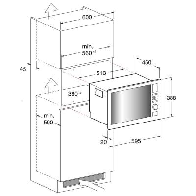 Forno microonde combinato 6 funzioni Indesit MWI 222.2 X