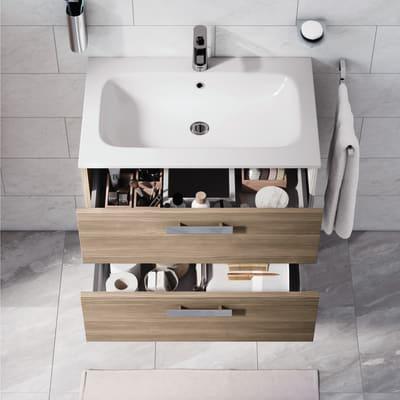 Mobile bagno Key rovere L 90 cm