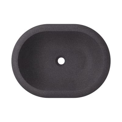 Lavabo da appoggio ovale Ava L 60 x P 12 x H  45 cm