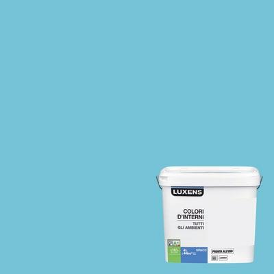 Idropittura lavabile Mano unica Blu Blu 6 - 4 L Luxens