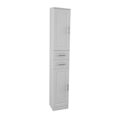 Colonna Paola bianco 2 ante, 2 cassetti L 30 x H 190 x P 33,5 cm