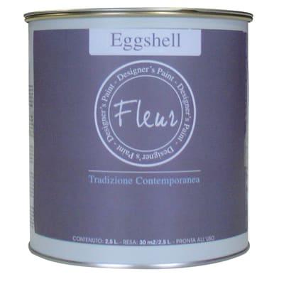 Smalto manounica Fleur Eggshell all'acqua snow white satinato 0.75 L