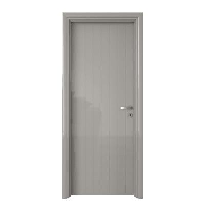 Porta da interno battente Pvc grey grigio 80 x H 210 cm sx