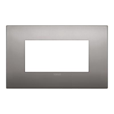Placca 4 moduli Vimar Arké nichel nero
