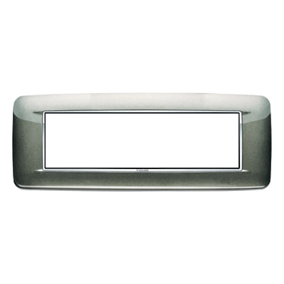 Placca 7 moduli Vimar Eikon Round titanio metal