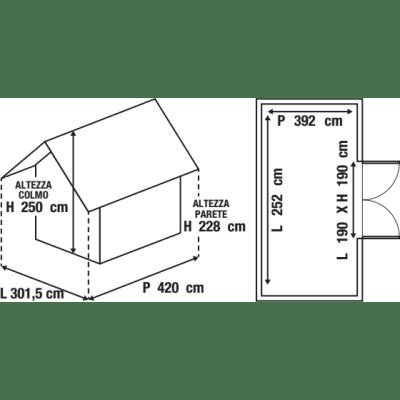 Garage in metallo Chicago, 12,7 m²
