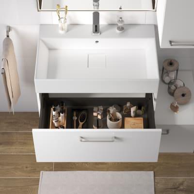 Mobile bagno Neo Line L 75 x P 48 x H 32 cm 1 cassetto bianco