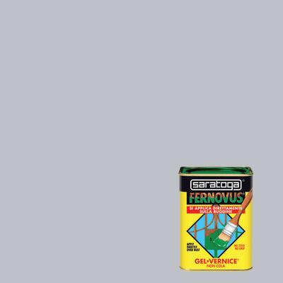 Smalto per ferro antiruggine Saratoga Fernovus grigio perla brillante 0,75 L