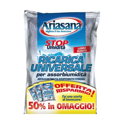 Ricarica sali assorbiumidità Ariasana 3 x 450g profumo neutro