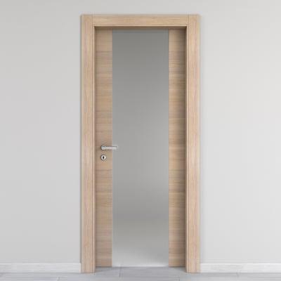 Porta da interno battente Ritz Vetro Rosa del deserto 70 x H 210 cm dx