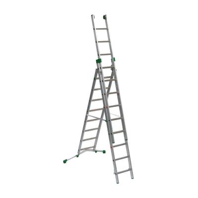 Scala sfilo alluminio Facal 8+9+9 gradini, per lavori fino a 7,1 m