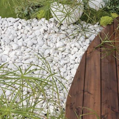 Ciottoli bianco carrara prezzi e offerte online leroy merlin for Cordoli per aiuole leroy merlin