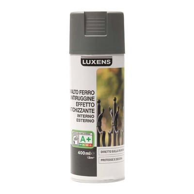 Smalto per ferro antiruggine spray Luxens grigio antichizzato 0,4 L