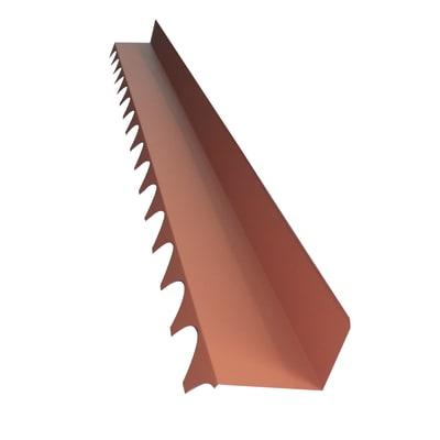 Raccordo falda parete in acciaio color Rosso coppo 250 x 180 cm, L 220 cm