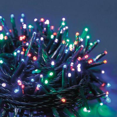 Catena luminosa 1000 minilucciole Led multicolore 74,4 m