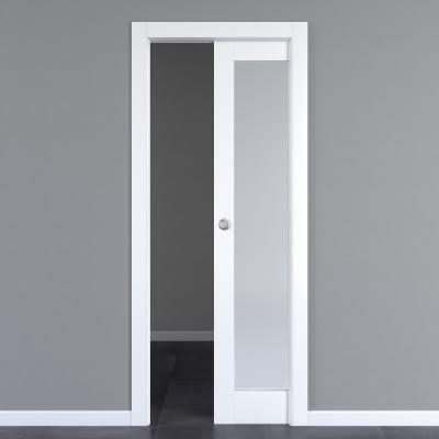 Porta da interno scorrevole Avior bianco 70 x H 210 cm reversibile