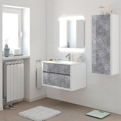 Mobile bagno Elegance bianco L 75 cm
