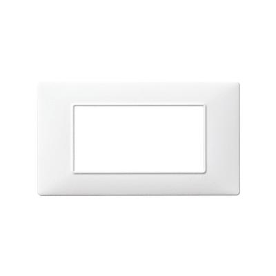 Placca 4 moduli Vimar Plana bianco