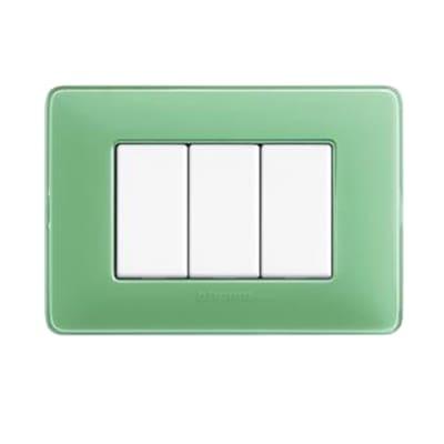 Placca 3 moduli BTicino Matix tè verde
