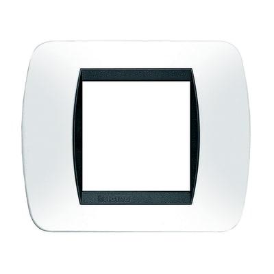 Placca 2 moduli BTicino Living International Bianco