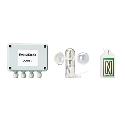 Kit per tapparelle e tende elettriche Fantini Cosmi OCVP1 sensore vento e pioggia