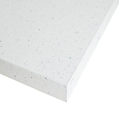 Piano cucina su misura laminato Stradust bianco 4 cm