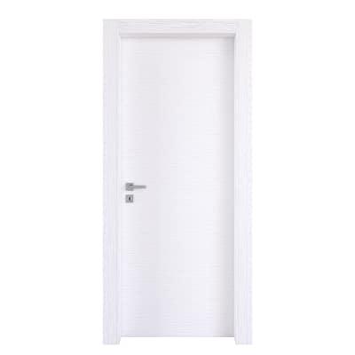 Porta da interno battente Plaza Frassino Bianco 90 x H 210 cm reversibile