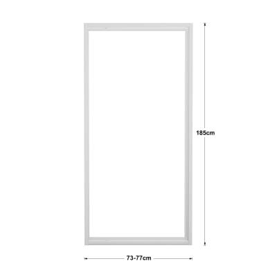 Porta doccia battente elba 73 77 h 185 cm acrilico 3 mm for Porta doccia a libro leroy merlin