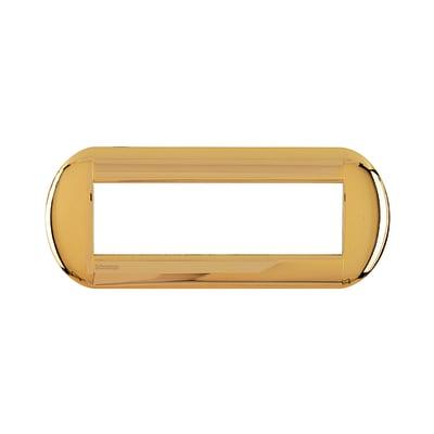 Placca 7 moduli BTicino Livinglight oro
