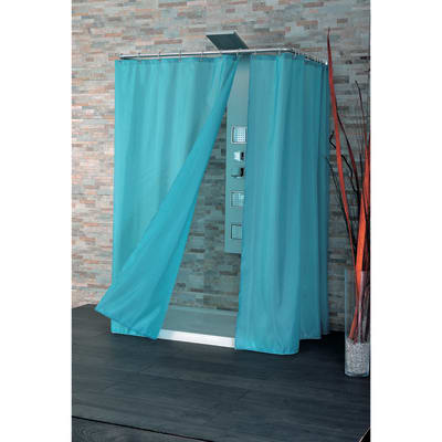 Tenda doccia Basic azzurra L 180 x H 200 cm