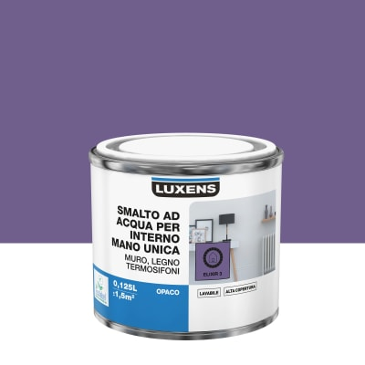 Smalto manounica Luxens all'acqua Viola Elisir 3 opaco 0.125 L